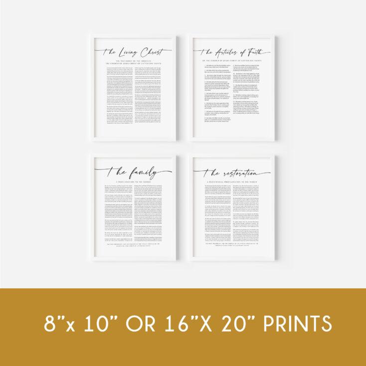 8x10 or 16x20 proclamation bundle