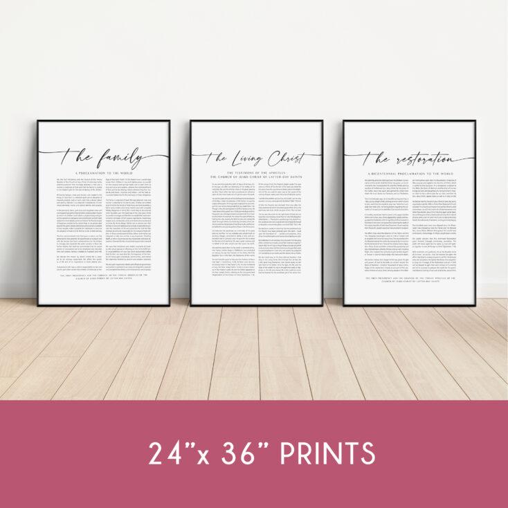 24x36 proclamation bundle LDS