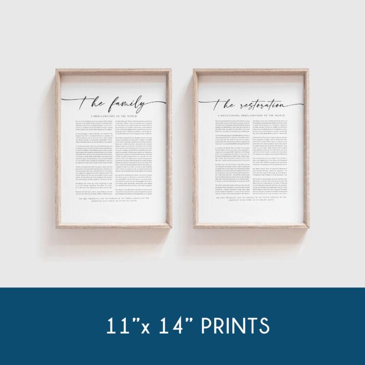 11x14 lds proclamation bundle