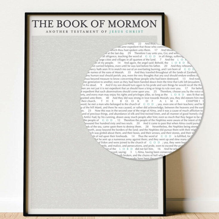 Wall Art Book of Mormon poster