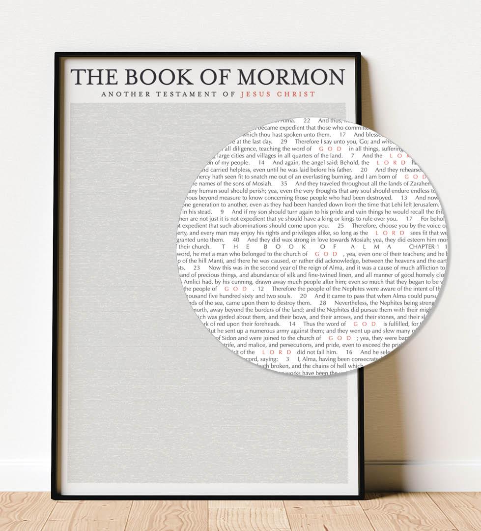 LDS Decor Book of Mormon Poster