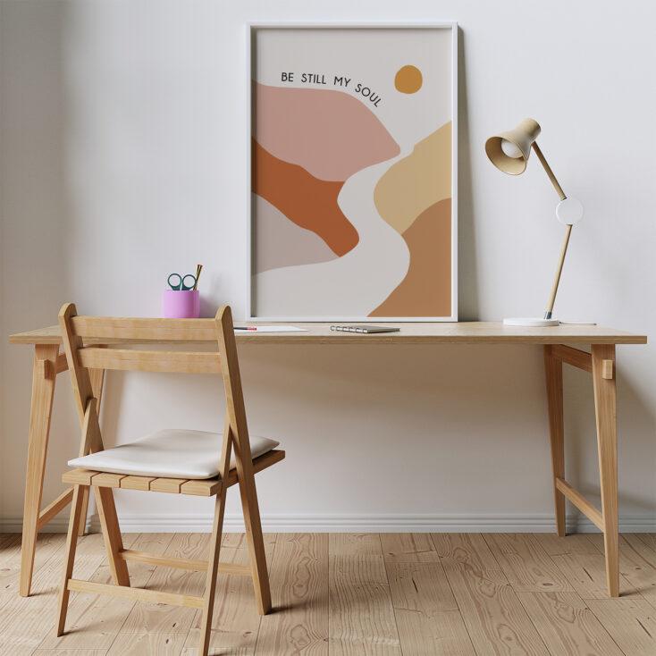 Be Still My Soul Art Framed on Desk