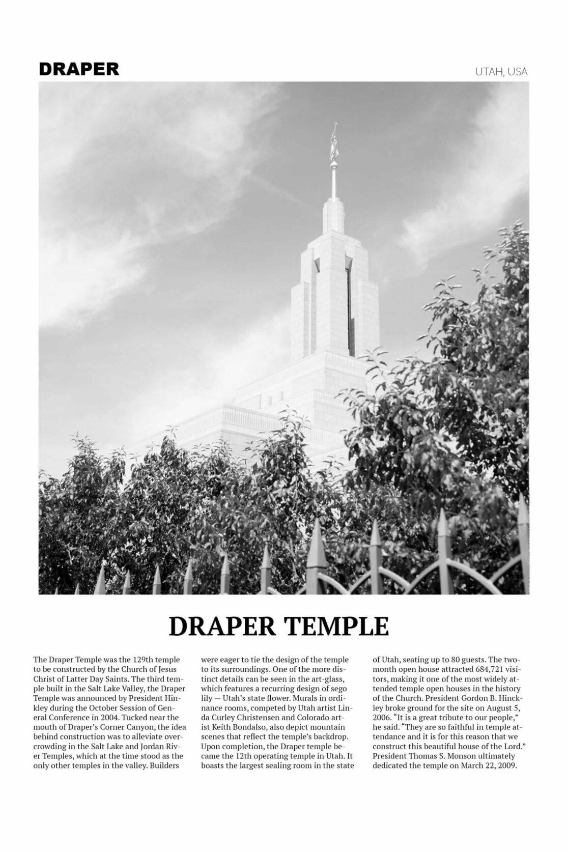 Up close Draper Temple Photo Poster