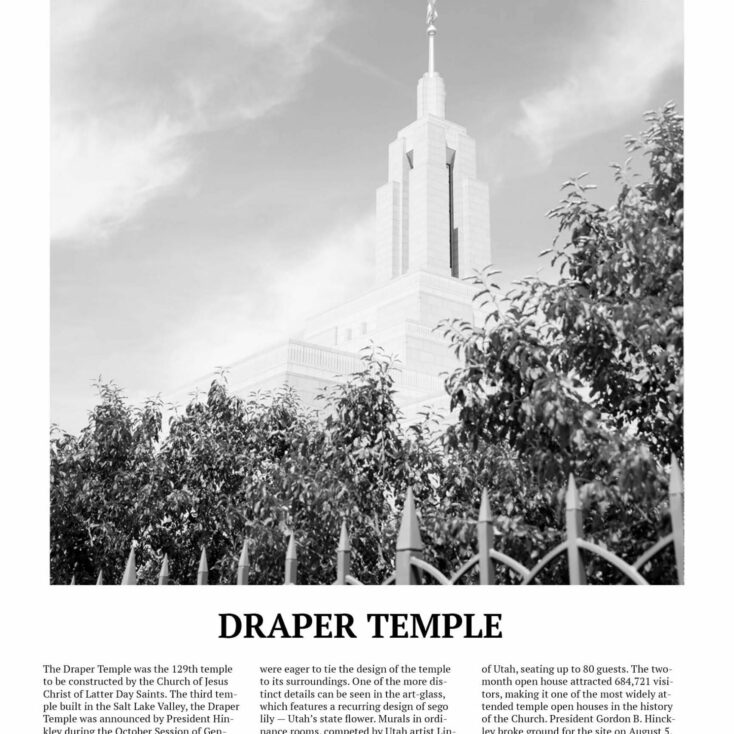 Up close Draper Temple Photo Poster