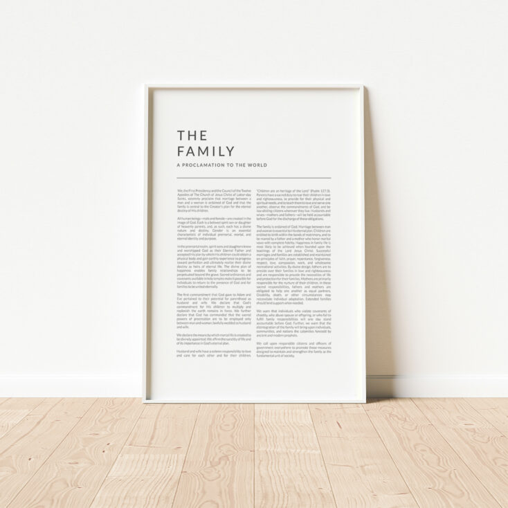The Family Proclamation Matte Print Art