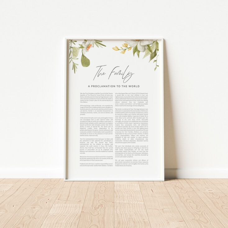 LDS Family Proclamation Poster Wall Art