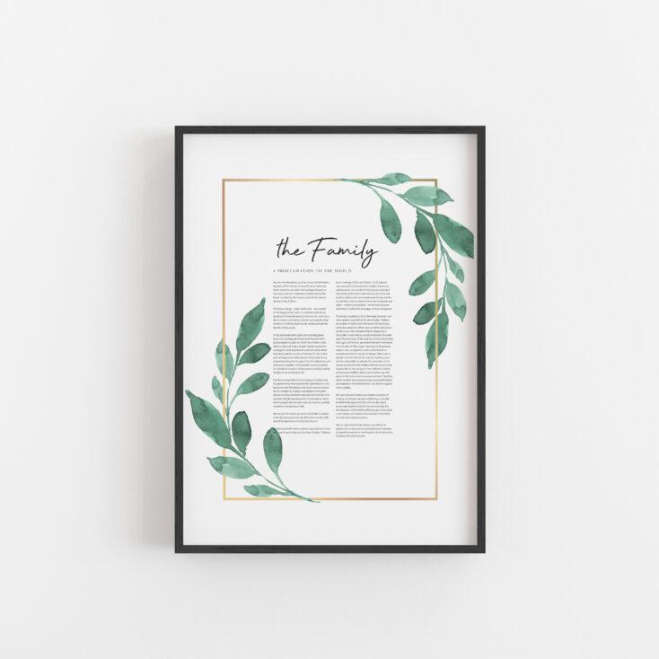 Family Proclamation Bundle - Greenery