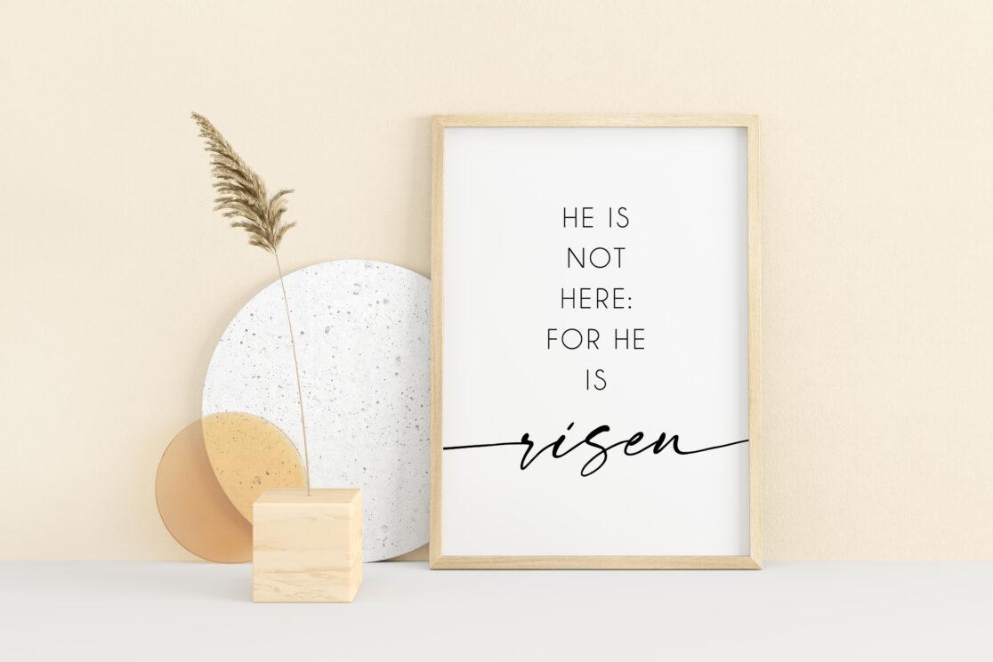 He is Risen Matte Print