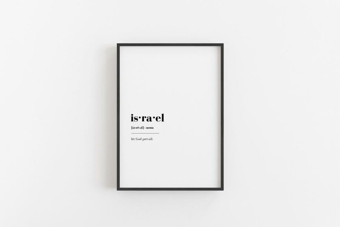 Israel Definition Poster Print For Wall Art