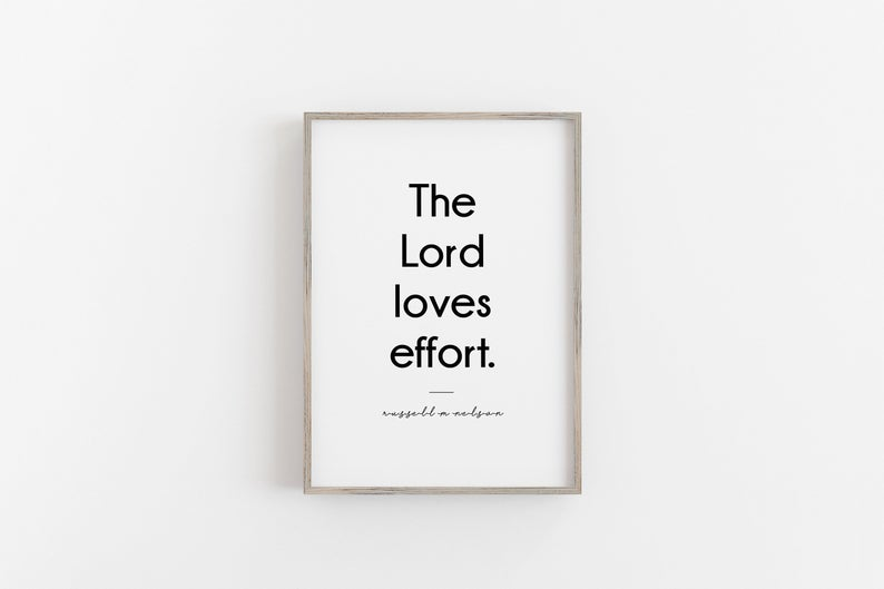 The Lord Loves Effort Print Wall Art