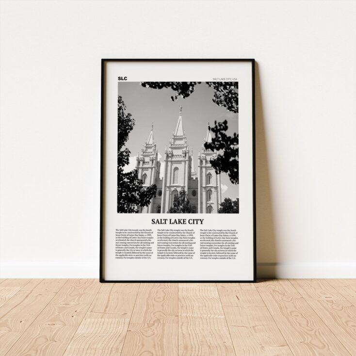 Salt Lake City Temple Framed Poster Wall Art