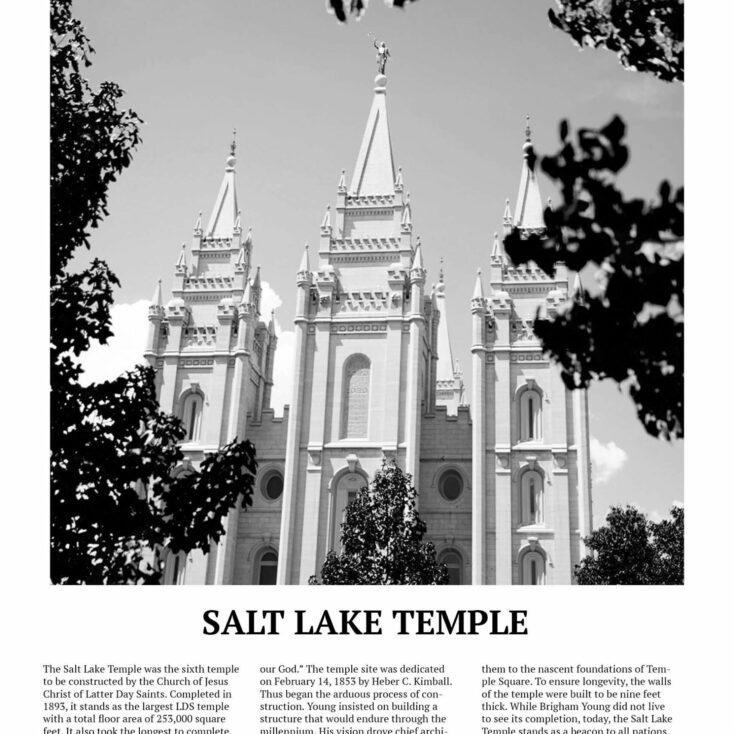 Close of up SLC LDS Temple Matte Print Poster