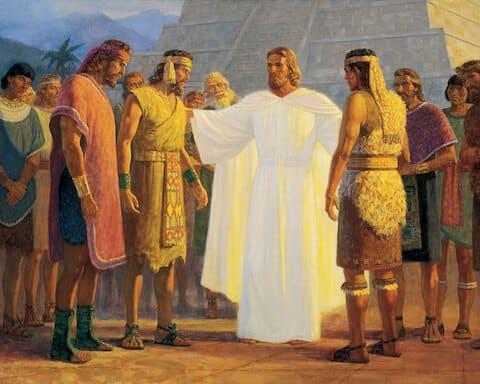 Jesus Blessing People
