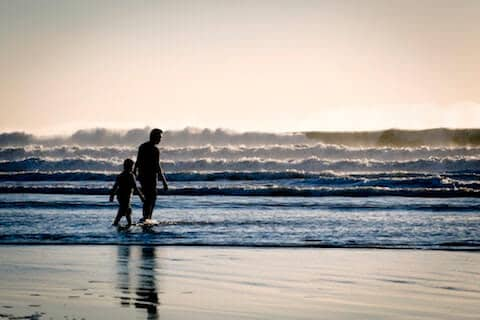 Man and son walking (image depicting and honest conversation)