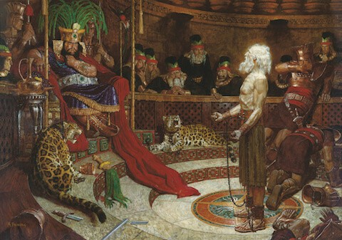 King Noah and Abinadi Painting