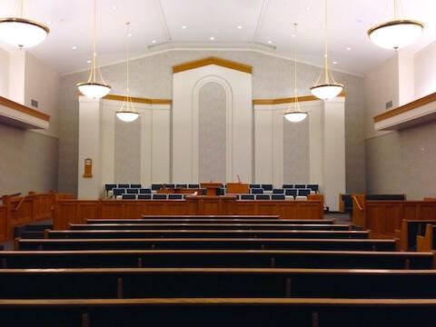 LDS Chapel depicting sabbath day