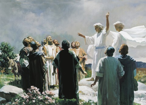 Painting of Angles Talking About the Second Coming