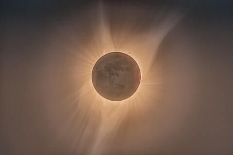 Picture of eclipse depicting war in heaven